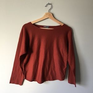 VINCE KNIT TOP SWEATER BURNT ORANGE S